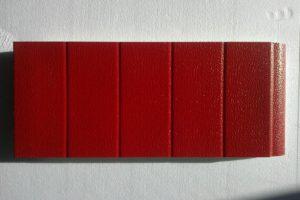 portone goffrato rosso