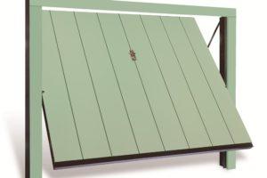 Portone legno verdino
